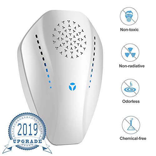 Ultrasonic Pest Repeller Plug in Pest Reject, Electric Pest Control Repellent for Mosquito, Bugs, Rat, Ant, Mouse, Spider, Cockroach, Flea, 1 Pack