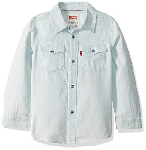 Levi's Big Boys' Levis Barstow Western Denim Shirt, White Washed, 7