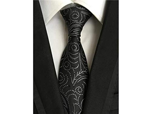 Men's Casual and Necktie Great Printed Wedding ADream Black Occasion Formal for Comfortable Party vwHEFFqT