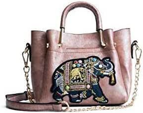 Pink elephant Fashion Women Lady Leather Messenger Crossbody Shoulder Bag Satchel Handbag Tote