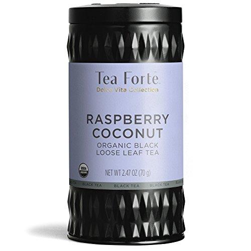 Tea Forte Organic Black Tea Raspberry Coconut, 2.47 Ounces