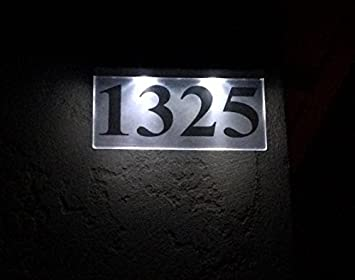 led solar house number sign