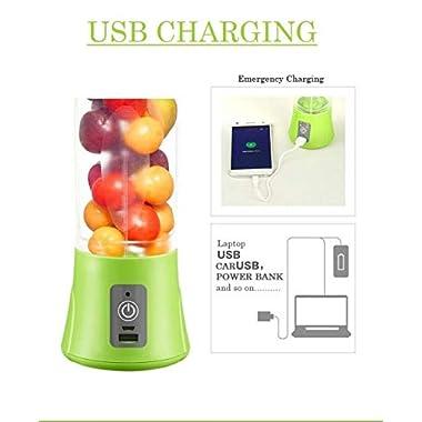 Qualimate Portable Electric USB Juice Maker Juicer Blender Bottle, Multicolour 10