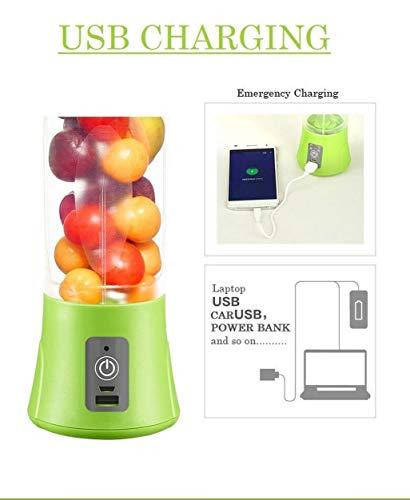 Qualimate Portable Electric USB Juice Maker Juicer Blender Bottle, Multicolour 5