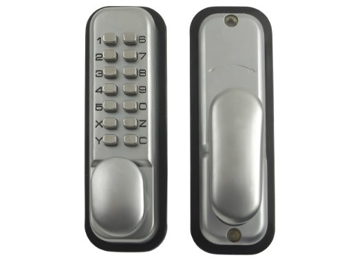 Yale Locks P-DL01-SC Push Button Door Lock Chrome Finish