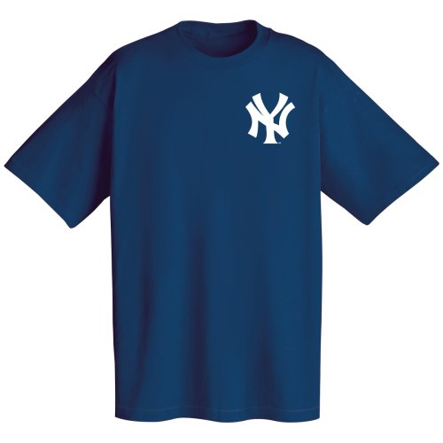 MLB New York Yankees Wordmark T-Shirt, Navy, Large