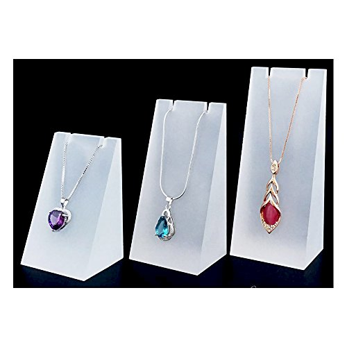 Necklace Jewelry Display Stand Block Acrylic Fine Exhibition Stand Set of 3