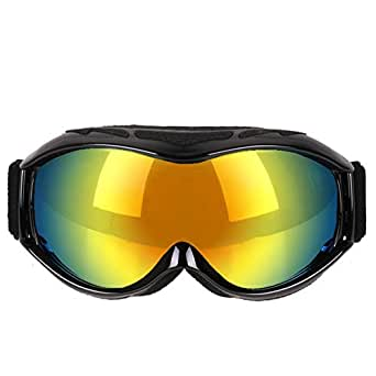 Aooaz Ski Goggles Snow Goggles Anti Fog Uv Protection Anti Slip Strap For His Her Black