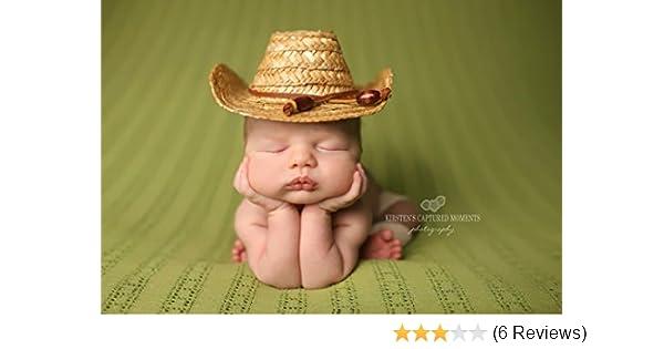 e5c4c4ef7b1 Amazon.com  Newborn Straw Cowboy Hat