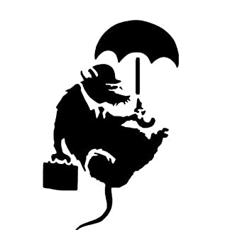 BANKSY RATTE Kunst Schablone / A4 Blatt Größe (Design 16x25cm ...