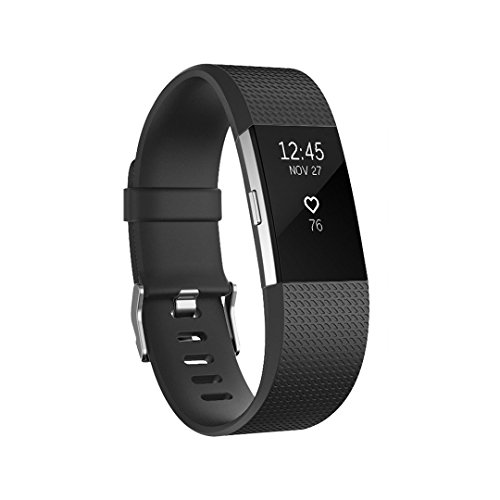 POY For Fitbit Charge 2 Bands, Classic & Special Edition Replacement bands for Fitbit Charge 2, Large Black