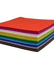HellooColor Craft Felt Fabric Sheets 6x6 inches