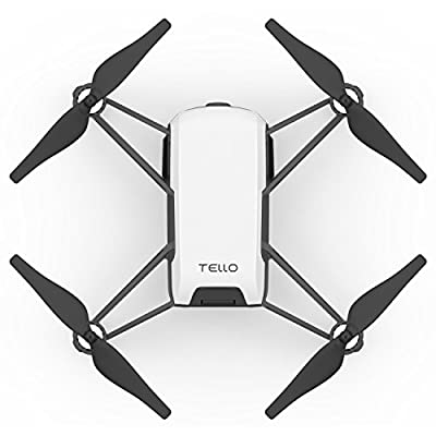 Tello Quadcopter Drone with HD Camera and VR Powered by DJI Technology Fun Flight Bundle with Carry Case, Spare Battery and VR Goggles Headset from DJI