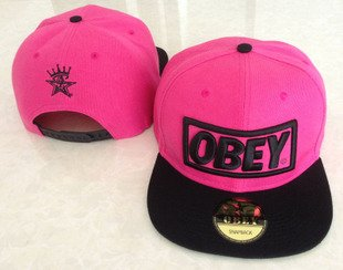Obey Snapback Hat/cap (Pink and Black)