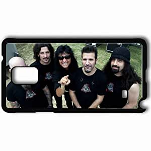 Personalized Samsung Note 4 Cell phone Case/Cover Skin Anthrax Tattoo Bald Beard Teeth Black