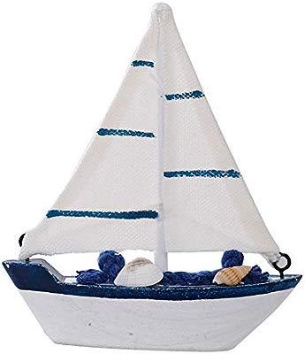 Fablcrew. Mini velita Barco de Madera con decoración de Red de ...