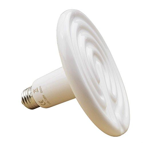 41PWOlF9zhL - Aiicioo 250 Watt 110 Volt Ceramic Heat Emitter for Reptiles or Amphibians White
