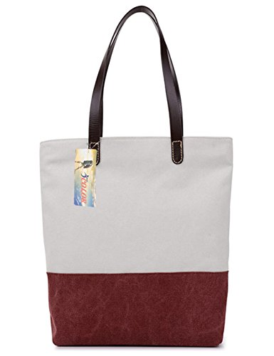 iColor Women's Handle Bags Canvas Shoulder Bags Casual Tote Beach Bag Purses ()