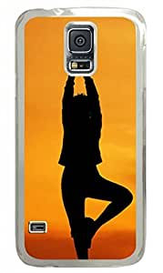 Samsung Galaxy S5 PC Hard Shell Case Yoga Pose Transparent Skin by Sallylotus by mcsharks