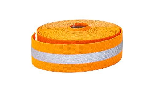 Pearl Reflective Elastic, 1.5 Wide, 5yd, Orange