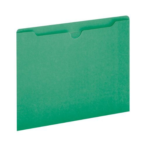 Globe-Weis Colored File Jackets, Reinforced Tab, Flat, Letter Size, Green, 100 Jackets Per Box (B3010DTGRE) by Globe Weis