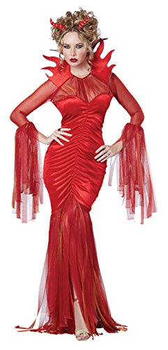 Women's Devilish Diva Costume, Red, X-Large