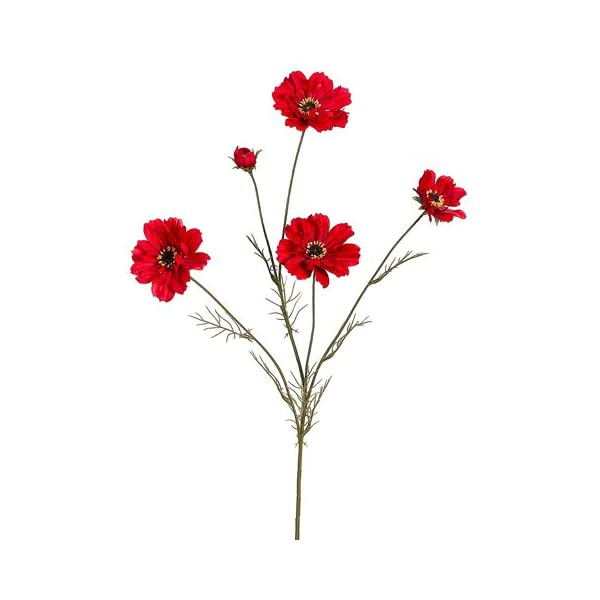 32″ Silk Cosmos Flower Spray -Red (Pack of 12)