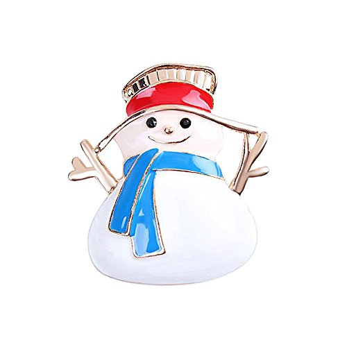 - JewelryPal Christmas Snowman Deer Fashion Brooch Pins for Women Bouquet Wedding Brooch (Snowman)