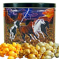 Wild Horses Popcorn Gift Tin Small by Just Poppin