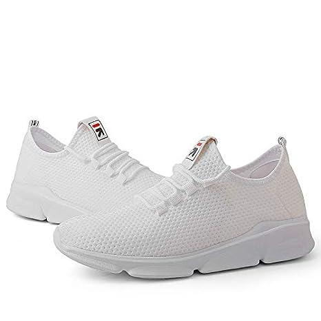 LLWAD Zapatillas de Deporte Zapatillas de Confort para Hombre Tejido Elástico/Tissage Volant Spring Sporty Athletic Shoes Zapatillas para Correr Antideslizante Blanco/Negro/Rojo: Amazon.es: Deportes y aire libre