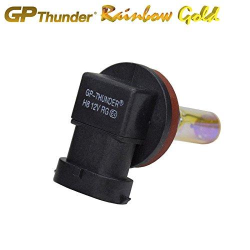 GP Thunder SGP25-H8 Rainbow Gold 2500K 35W Xenon Quartz Ion Light Bulb, Pack of 2