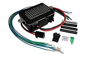 apdty 5012699k blower motor resistor with wiring harness kit factory oe original style for 1999 2001 jeep grand cherokee w atc (automatic temperature  blower motor resistor