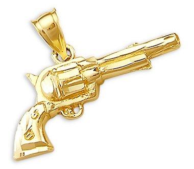 Amazon 14k yellow gold revolver pistol gun charm pendant new 14k yellow gold revolver pistol gun charm pendant new aloadofball Gallery