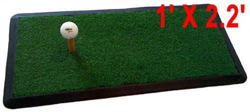 Heavy Duty GOLF HITTING PRACTICE MAT Chipping Driving Launch Pad net 1′ x 2.2′ by MBSellers
