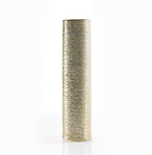 Ceramic-Cylinder-Vase-in-Gold-16-Tall-x-4-Diameter