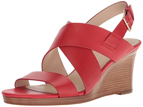 - Cole Haan Women's Penelope Wedge II Sandal, Aura Orange Leather, 9.5 B US