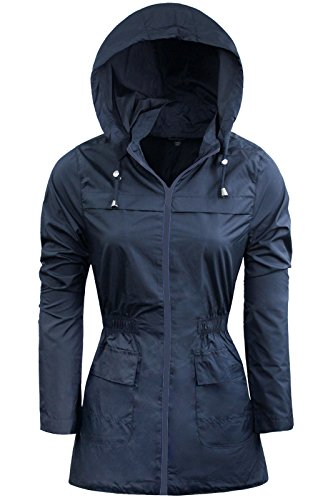 Nueva lluvia Mac Ladies Parka para mujer Fishtail Festival impermeable y plain 810121416ahora con tamaños 18202224 Navy Blue | Navy Blue Zip