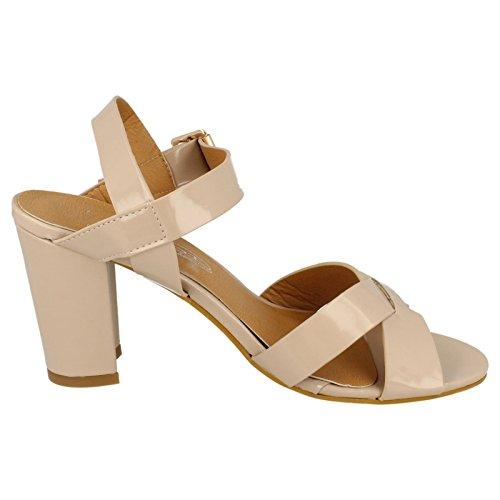 Spot On Damen High Heel Sandaletten Nude (Beige)