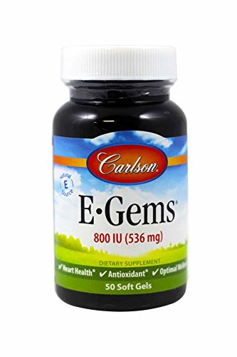 Carlson Labs E-Gems Natural Vitamin E, 800 IU, 50 Softgels