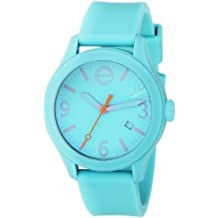 ESQ Movado Unisex 07301441 Stainless Steel and Silicone Turquoise Blue Watch