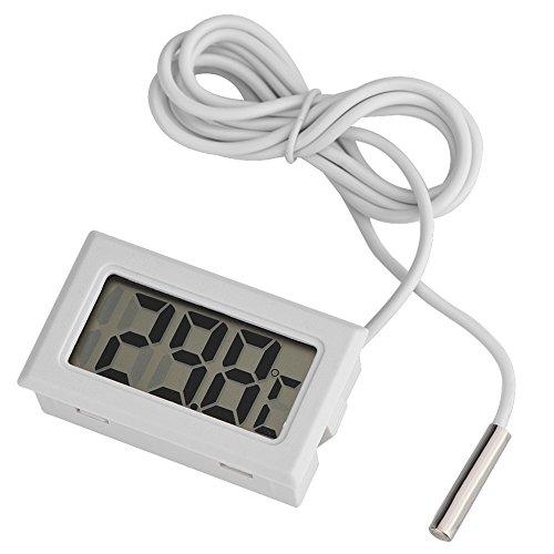 Richer-R Thermometer,Mini Temperature Digital LCD Thermometer Sensor for Refrigerator Freezer
