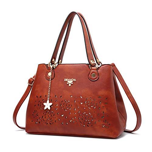 bandoulière main dames à sac de 33 cuir 16 à élégant Marron minimaliste sac 23CM bandoulière en sac à Nouveau wEIvzXnqq