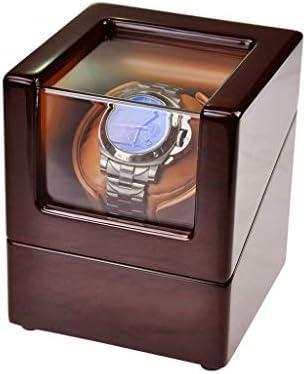 自動時計ワインダーボックス回転静かな機械式時計静かなモーターシェーカーPUレザー時計ワインディングボックス、R