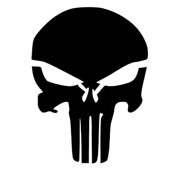 amazon co jp pack of 3 punisher skull stencils made from 4 ply mat