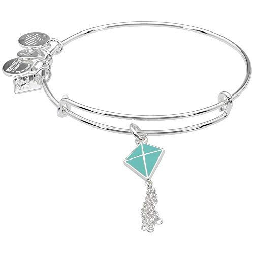 Alex and Ani Inspiration In Flight Shiny Silver/Blue Bangle Bracelet