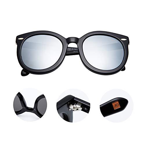 Amazon.com: Jimmy J5101 - Gafas de sol polarizadas redondas ...