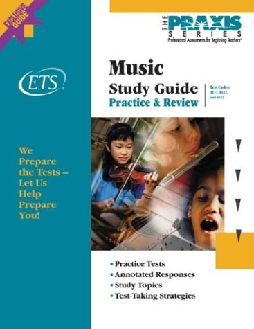 Music Study Guide (Book and CD-Rom, Praxis Study Guides)