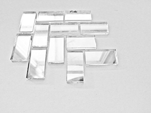 (50 Pieces Mirror Mosaic Border Craft Tiles 1/2-Inch x 1 Inch)
