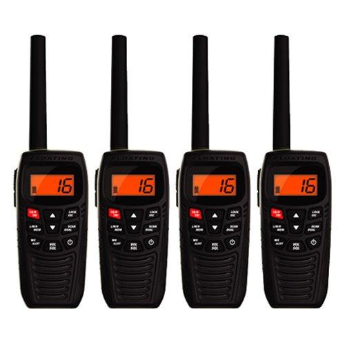 Uniden Atlantis 270 Waterproof VHF Marine Two-Way VHF Marine Radio ( 4 Pack )