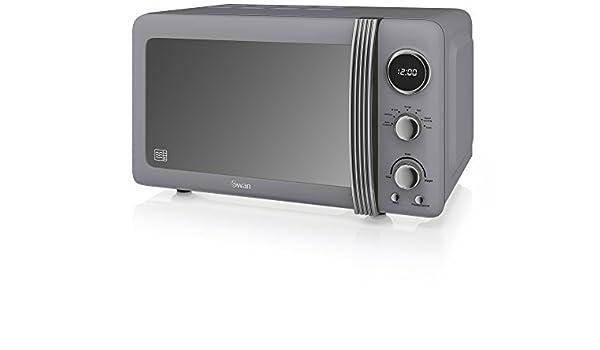Swan Products SM22030GRN Retro Digital Microwave, 20 Litre, 800 W ...